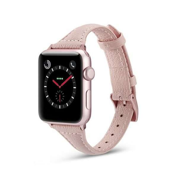Apple watch Leather straps rose gold
