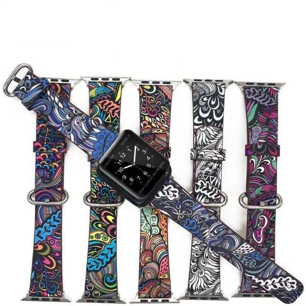 Printed Floral Flower Strap Watch Band for iWatch