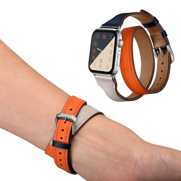 Leather Bracelet Strap For Apple Watch