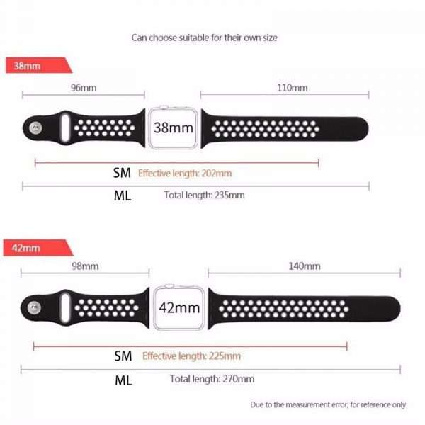 Sport Silicone Strap for Apple Watch