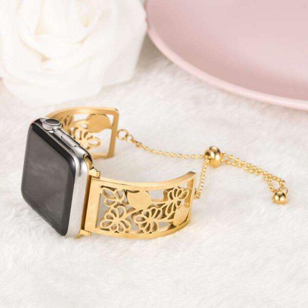 Women metal Bracelet Style WatchBand For Apple Watch Series 1/2/3/4/5