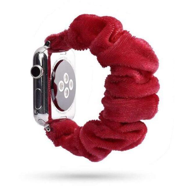 Women Velvet Scrunchies Elastic Watch Band