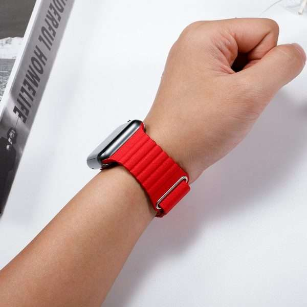 pulseira Leather loop strap for apple watch