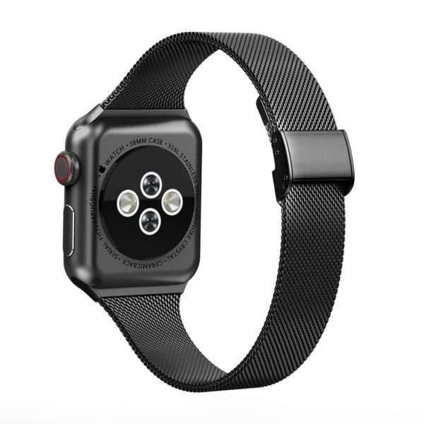 Stainless steel metal Milanese Loop strap For Apple Watch band 5 4 3 2 1