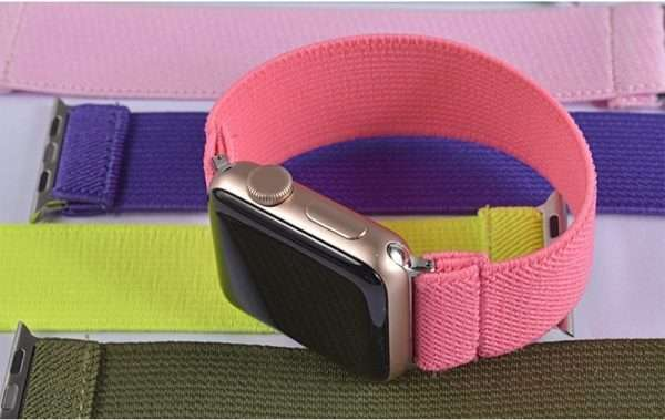 Scrunchie Solid Strap For Apple watch band