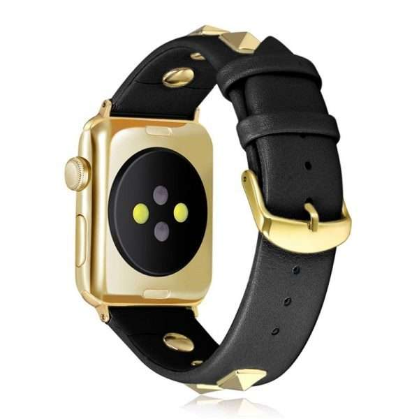 Punk Leather strap for Apple watch band