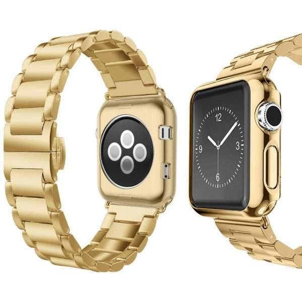 Luxury Stainless Steel Strap + case For apple watch