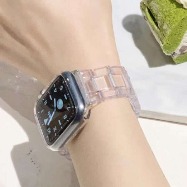 Resin transparent Watch strap for apple watch