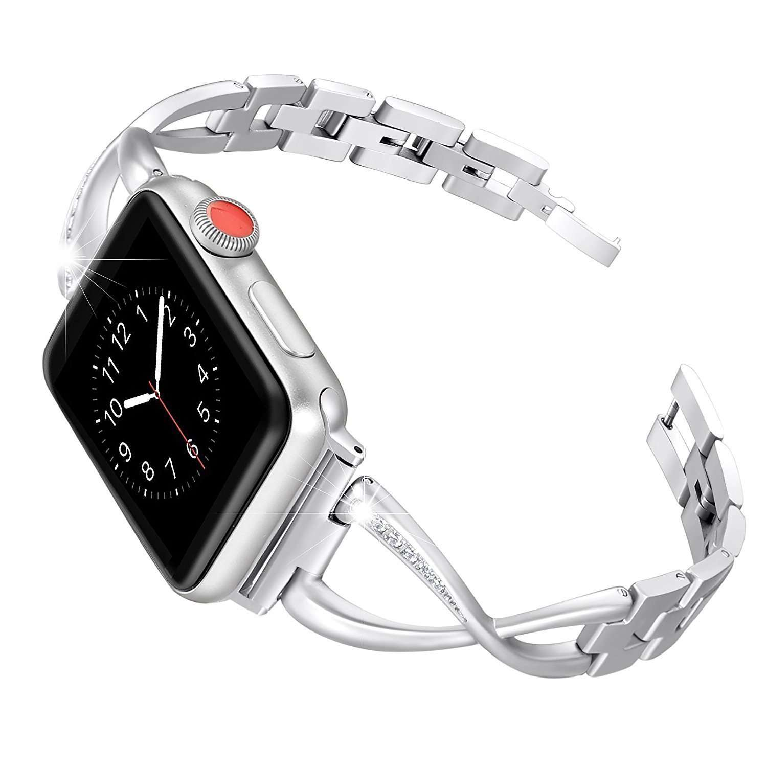 Stainless Steel Women Watch band for Apple Watch