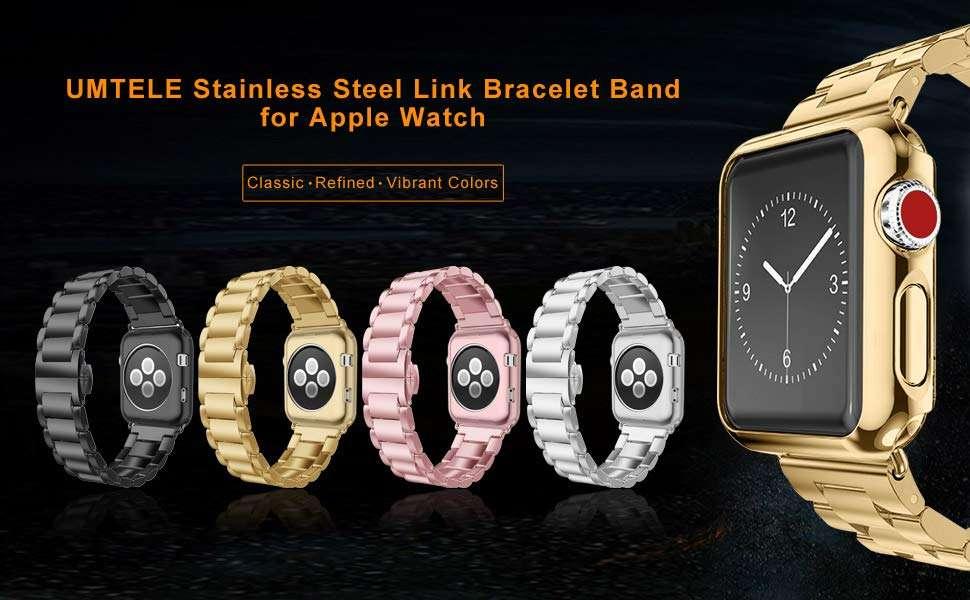 Luxury Stainless Steel Strap + case For apple watch - Adamwear