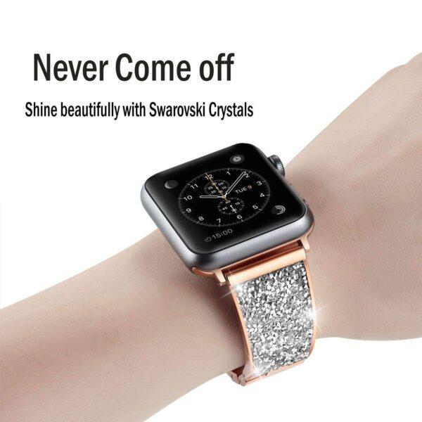 woman Gold Diamond strap For Apple Watch