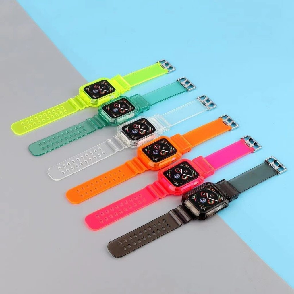 Transparent apple watch band