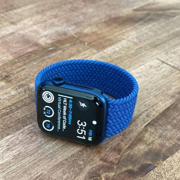 silicone Braided Solo Loop iWatch Apple Watch Series 6 SE 5 4 3