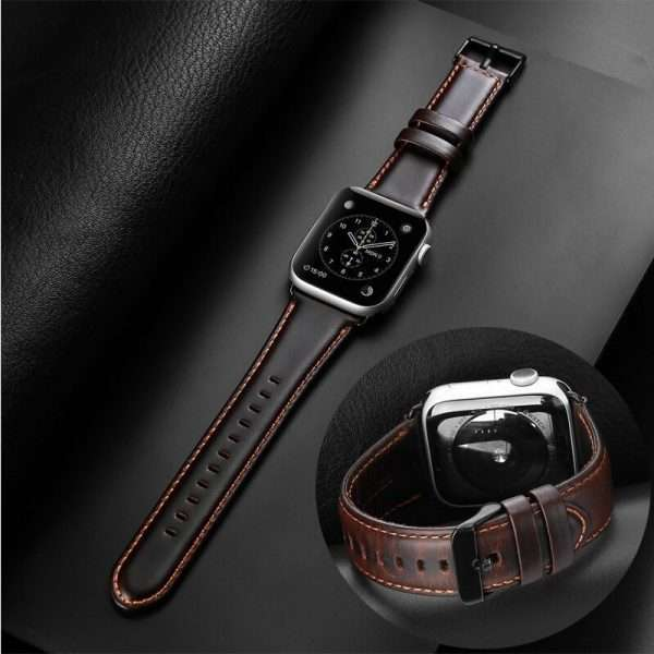 High quality leather strap 44mm 40mm 42mm 38mm