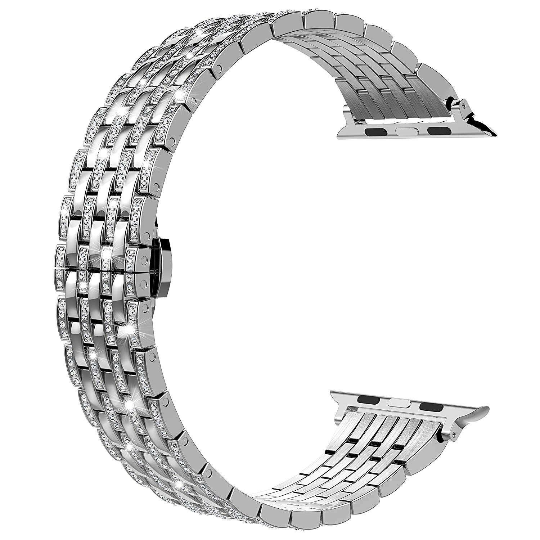 Luxury Diamond Stainless Steel strap For Apple Watch Series 6 SE 5 4 3