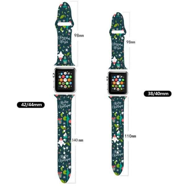 Christmas sport strap For Apple Watch band 44mm 40mm 38mm 42mm Cartoon Printed watchband Bracelet IWatch 3