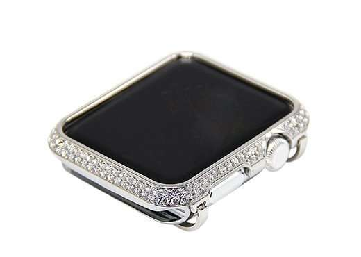 Luxury Diamond Case For Apple Watch Series 6 SE 5 4 3 0001 silver download main images download variant ima variants 3