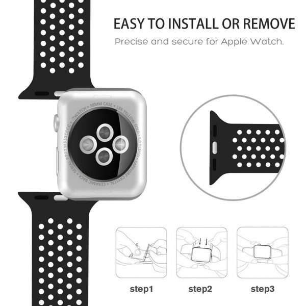 Summer Sport Silicon bands for apple watch 5 4 38 42mm replacement strap for iWatch 4 2