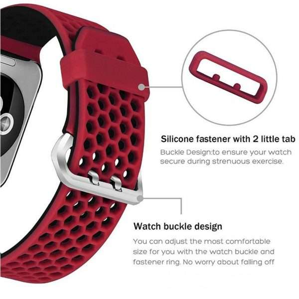 Summer Sport Silicon bands for apple watch 5 4 38 42mm replacement strap for iWatch 4 3