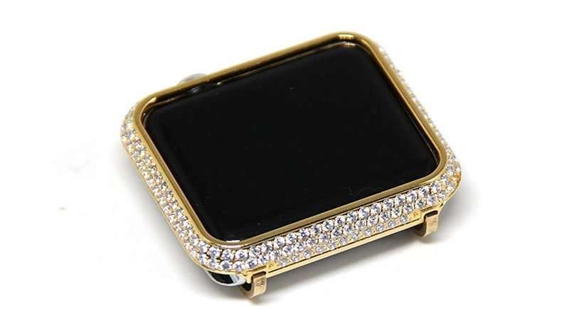 For Apple watch case Protective Shell Hand Made by Crystal Diamond Cover Style (5)
