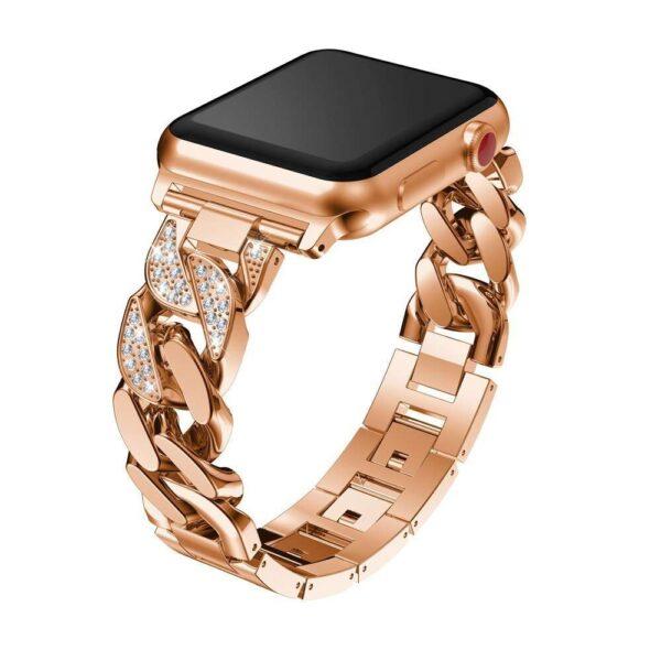 women Metal Diamond Strap For Apple Watch Series 6 SE 5 band 40mm 44mm 38mm 42mm 1