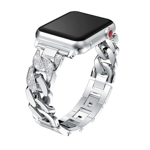 women Metal Diamond Strap For Apple Watch Series 6 SE 5 band 40mm 44mm 38mm 42mm 2