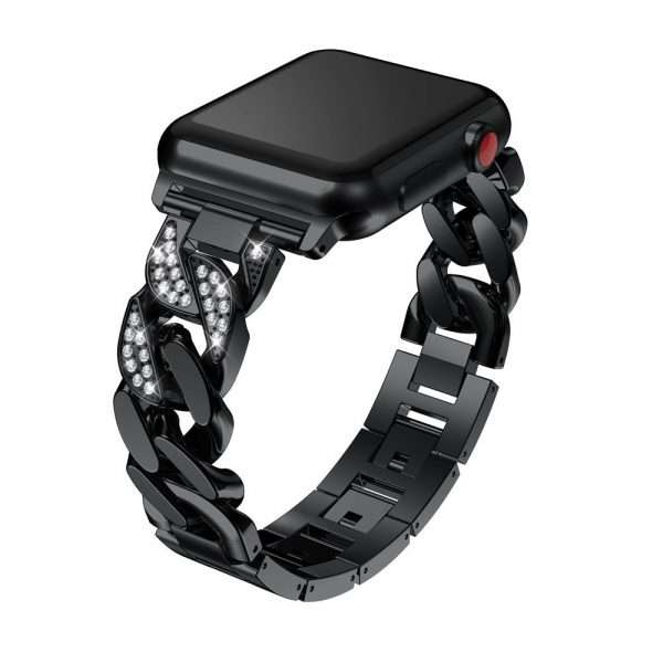 women Metal Diamond Strap For Apple Watch Series 6 SE 5 band 40mm 44mm 38mm 42mm 3