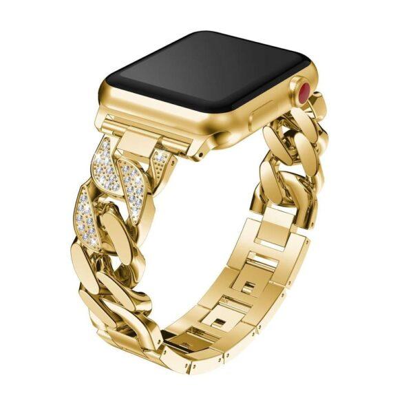 women Metal Diamond Strap For Apple Watch Series 6 SE 5 band 40mm 44mm 38mm 42mm 4