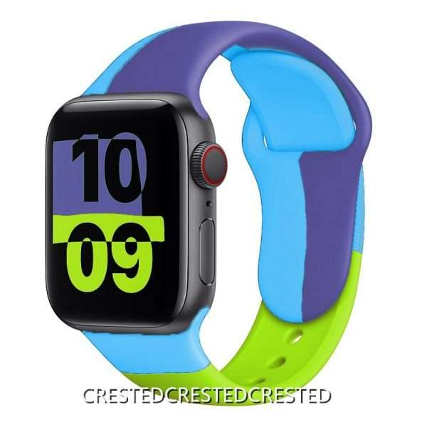 Black Unity Strap For apple watch band 44mm 40mm 42mm 38mm silicone for iwatch bracelet for 10