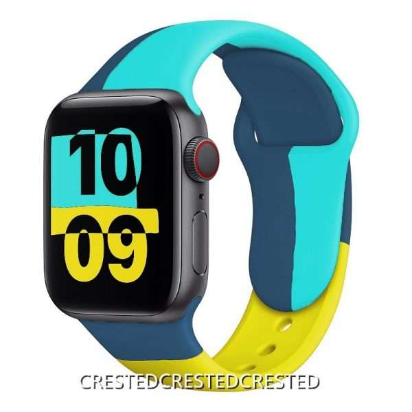Black Unity Strap For apple watch band 44mm 40mm 42mm 38mm silicone for iwatch bracelet for 11