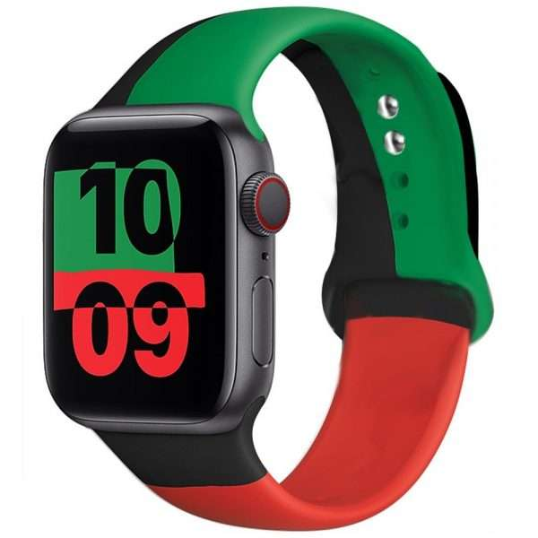 Black Unity Strap For apple watch band 44mm 40mm 42mm 38mm silicone for iwatch bracelet for 6