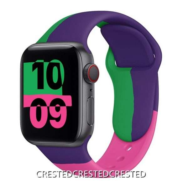 Black Unity Strap For apple watch band 44mm 40mm 42mm 38mm silicone for iwatch bracelet for 7