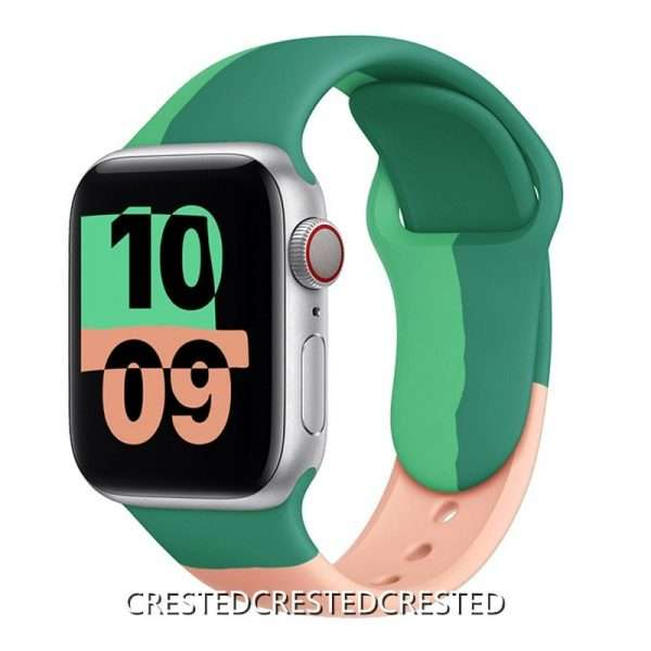 Black Unity Strap For apple watch band 44mm 40mm 42mm 38mm silicone for iwatch bracelet for 8